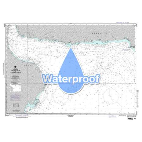 Region 6 - Eastern Africa, Southern & Western Asia, Waterproof NGA Chart 62028: Gulf of Oman and Adjacent Coasts