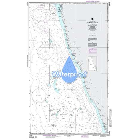 Region 6 - Eastern Africa, Southern & Western Asia :Waterproof NGA Chart 63005: Bombay to Cochin Incl Lakshadweep