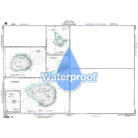 Region 8 - Pacific Islands, Waterproof NGA Chart 81249: Nukuoro