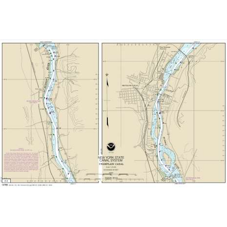 Atlantic Coast Charts :NOAA Chart 14786: NEW YORK STATE BARGE CANAL SYSTEM (70 page Booklet)