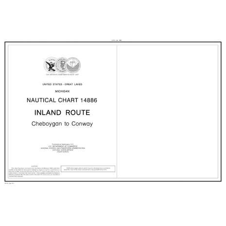 Great Lakes Charts :NOAA Chart 14886: Inland Route, Cheboygan to Conway (14 page booklet)