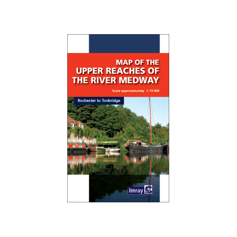 Europe, Map of the Upper Reaches of The River Medway