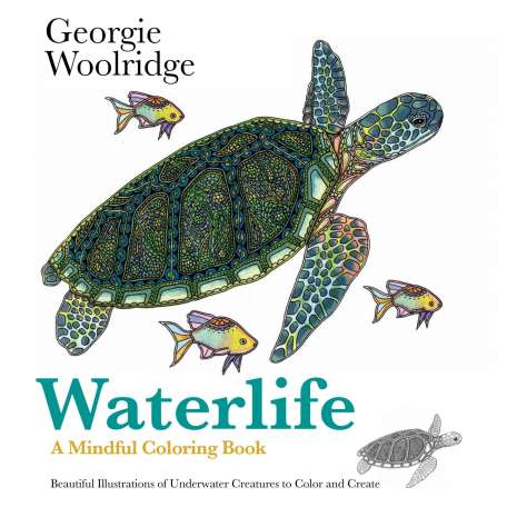 Adult Coloring Books, Waterlife: A Mindful Coloring Book