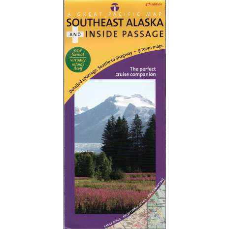 Alaska and British Columbia Travel & Recreation, Southeast Alaska and Inside Passage Recreation Map & Cruise Guide, 4th Edition