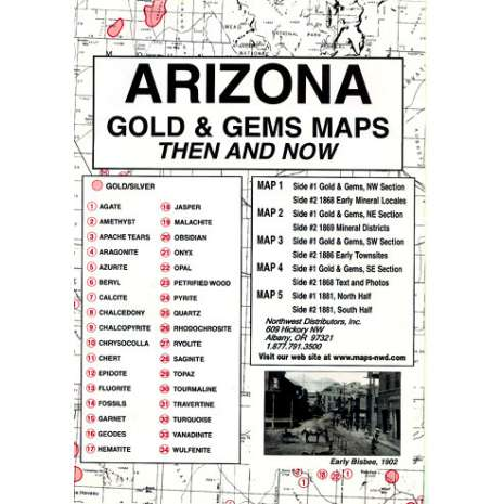 Historical Site and Related Guides :Arizona Gold and Gems Maps: Then and Now