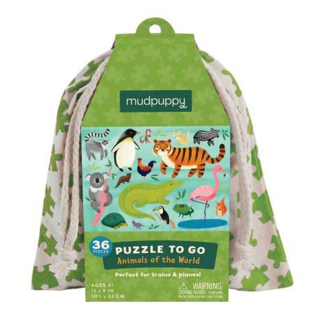 Models & Puzzles :Puzzle to Go: Animals of The World