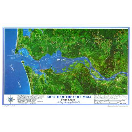 Pacific Northwest :Mouth of the Columbia River Placemat