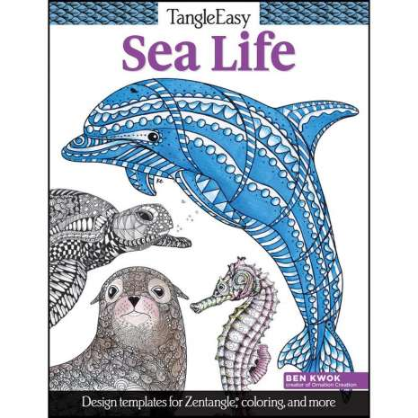Coloring Books :Tangle Easy: Sea Life Coloring Book
