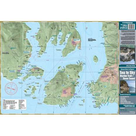 Canada :Sea to Sky Marine Trail / Howe Sound Waterproof Map