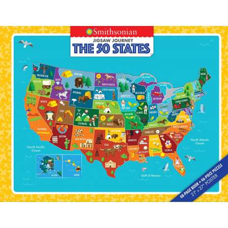 Geography & Maps :Jigsaw Journey Smithsonian: The 50 States