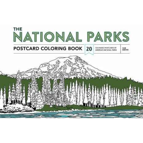 Coloring Books :The National Parks Postcard Coloring Book: 20 Colorable Postcards of America's National Parks