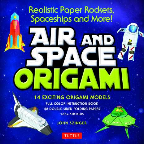 Crafts for Kids, Air and Space Origami Kit: Realistic Paper Rockets, Spaceships and More!