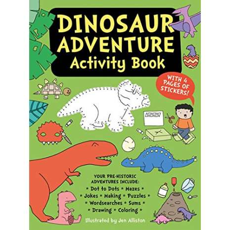 Home Page :: Specialty Categories :: Dinosaurs, Fossils, Rocks & Geology ::  Activity Books: Dinos :: Dinosaur Adventure Activity Book