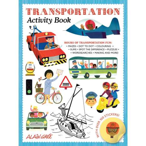 Boats, Trains, Planes, Cars, etc., Transportation Activity Book