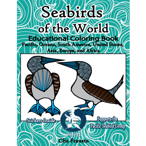 Adult Coloring Books, Seabirds of the World Educational Coloring Book: Pacific