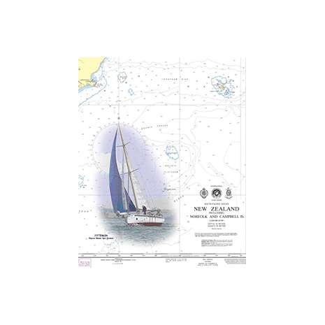 Region 1 - North America :Waterproof NGA Chart 19008: Hawaiian Islands