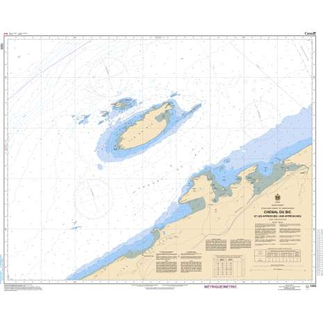 Quebec Region Charts :CHS Chart 1223: Chenal du Bic et les approches/and approaches