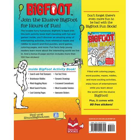 BigFoot Activity Book: Wacky Puzzles, Coloring Pages, Fun Facts & Cool  Stickers!