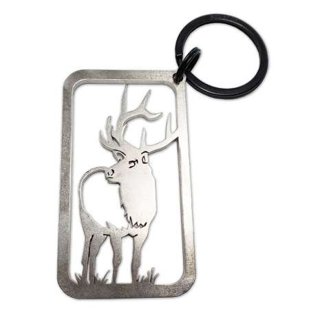 Magnets & Metal Art, Elk KEYCHAIN
