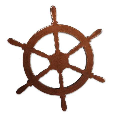 Chandlery Related & Nautical Gifts :Ships Wheel MAGNET