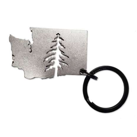 Washington :Washington Tree Keychain Charm