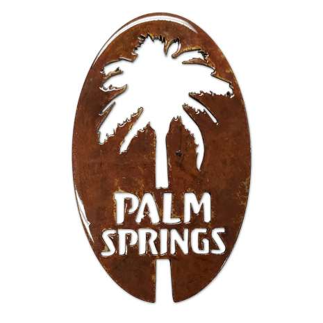 California :Palm Springs w/Palm Oval MAGNET