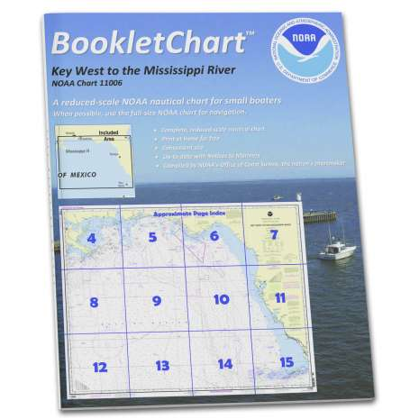 Gulf Coast Charts :NOAA Booklet Chart 11006: Key West to Mississippi River