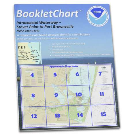 Gulf Coast Charts :NOAA BookletChart 11302: Intracoastal Waterway Stover Point to Port Brownsville: Including Braz.