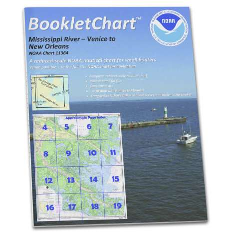 Gulf Coast Charts :NOAA BookletChart 11364: Mississippi River-Venice to New Orleans