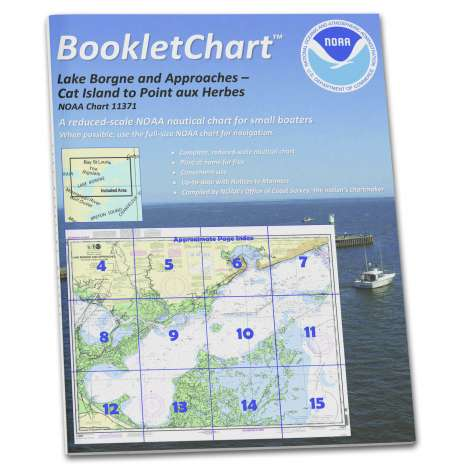 Gulf Coast Charts :NOAA BookletChart 11371: Lake Borgne and approaches Cat Island to Point aux Herbes