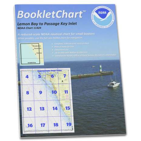 Gulf Coast Charts :NOAA BookletChart 11424: Lemon Bay to Passage Key Inlet