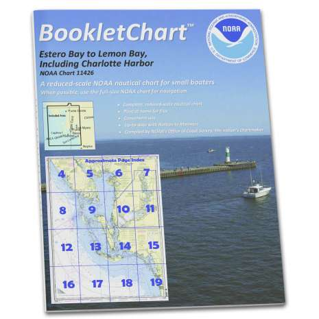 """Gulf Coast Charts :NOAA BookletChart 11426: Estero Bay to Lemon Bay: Including Charlotte Harbor, Handy 8.5"""" x 11"""" Size. Paper Chart Book Designed for use Aboard Small Craft"""