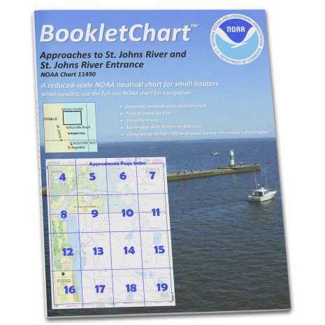 Atlantic Coast Charts :NOAA BookletChart 11490: Approaches to St. Johns River;St. Johns River Entrance