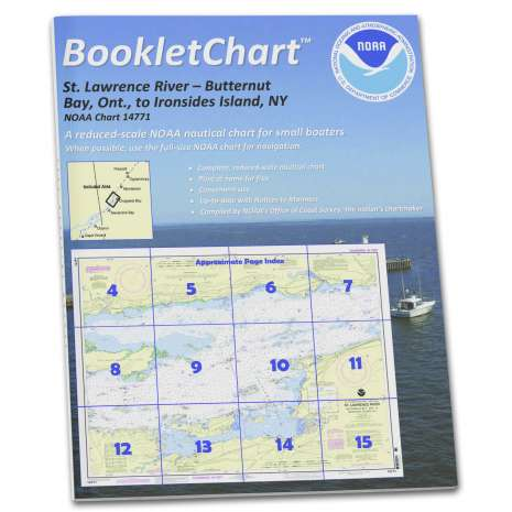 Great Lakes Charts :NOAA BookletChart 14771: Butternut Bay: ONT.: to Ironsides l.: N.Y.