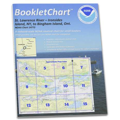Great Lakes Charts :NOAA BookletChart 14772: Ironsides l.: N.Y.: to Bingham l.: ONT.