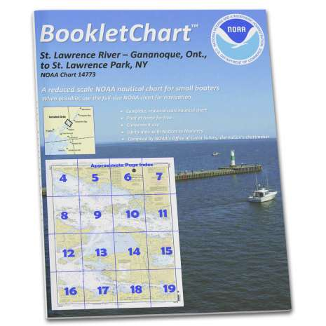Great Lakes Charts :NOAA BookletChart 14773: Gananoque: ONT.: to St. Lawrence Park. N.Y.