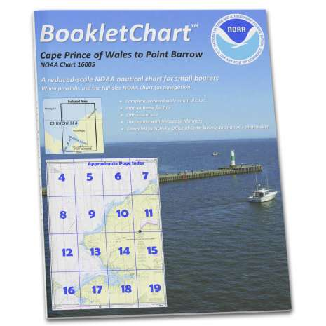 Alaska Charts :NOAA Booklet Chart 16005: Cape Prince of Wales to Pt. Barrow