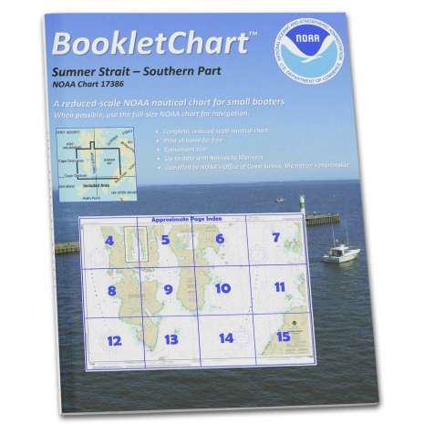 Alaska Charts :NOAA Booklet Chart 17386: Sumner Strait-Southern Part