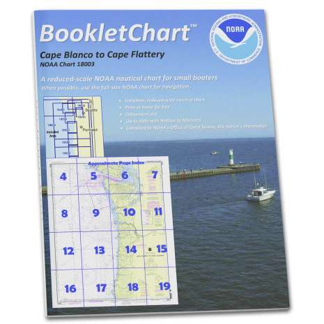 Pacific Coast Charts :NOAA BookletChart 18003: Cape Blanco to Cape Flattery