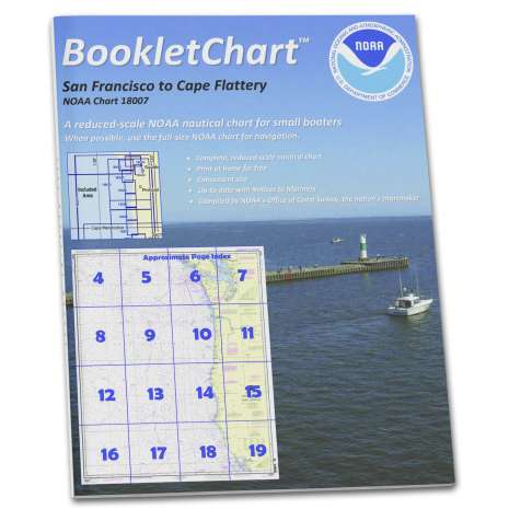Pacific Coast Charts :NOAA BookletChart 18007: San Francisco to Cape Flattery