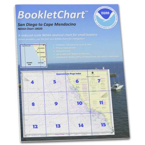 Pacific Coast Charts :NOAA Booklet Chart 18020: San Diego to Cape Mendocino