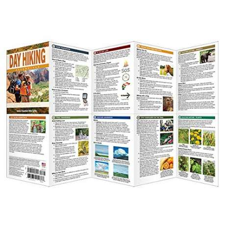 Camping & Hiking :Day Hiking Essentials: A Folding Pocket Guide to Gear, Planning & Useful Tips for Rookie Hikers