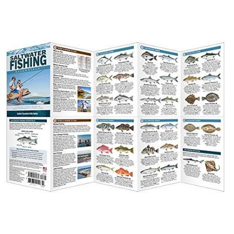 Fishing :Saltwater Fishing Essentials: A Folding Pocket Guide to Gear, Techniques & Useful Tips