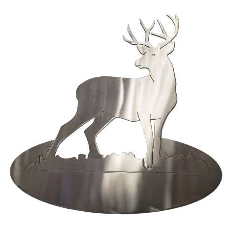 Metal Displays & Stand-ups :Buck Deer STAINLESS STEEL STAND-UP