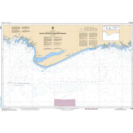 Quebec Region Charts :CHS Chart 4454: Pointe Curlew à/to Baie Washtawouka