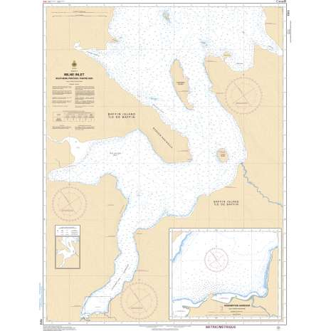 Central and Arctic Region Charts :CHS Chart 7513: Milne Inlet, Southern Portion / Partie Sud