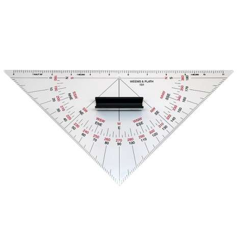 Navigation Tools :Protractor Triangle with Handle #101