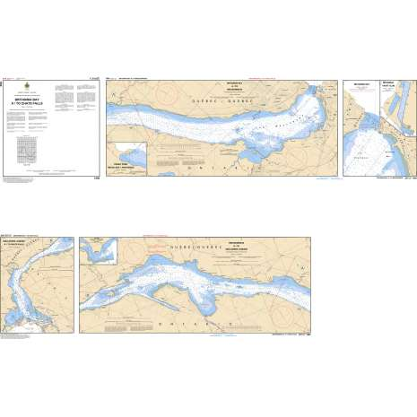 Central and Arctic Region Charts :CHS Chart 1550: Britannia Bay à/to Chats Falls