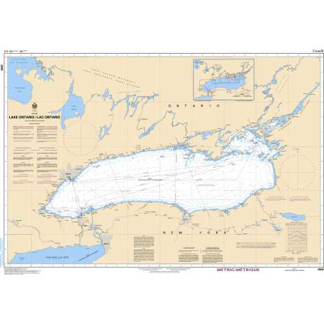 Central and Arctic Region Charts :CHS Chart 2000: Lake Ontario/Lac Ontario