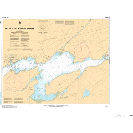 Central and Arctic Region Charts :CHS Chart 2007: Belleville to/à Telegraph Narrows